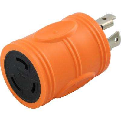 Locking Adapter NEMA L14-30P 30Amp 125/250Volt 4Prong Locking Plug to L5-30R 3Prong 30Amp Locking Female Connector