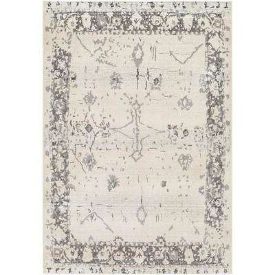 Kathy Grey 7 ft. 10 in. x 10 ft. 3 in. Distressed Area Rug