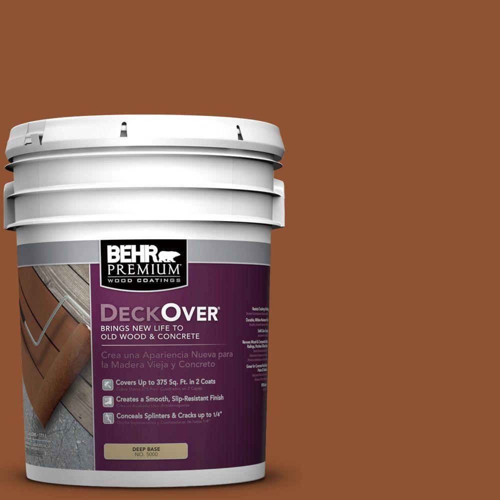 BEHR Premium DeckOver 5 gal. #SC-122 Redwood Naturaltone Wood and Concrete Coating