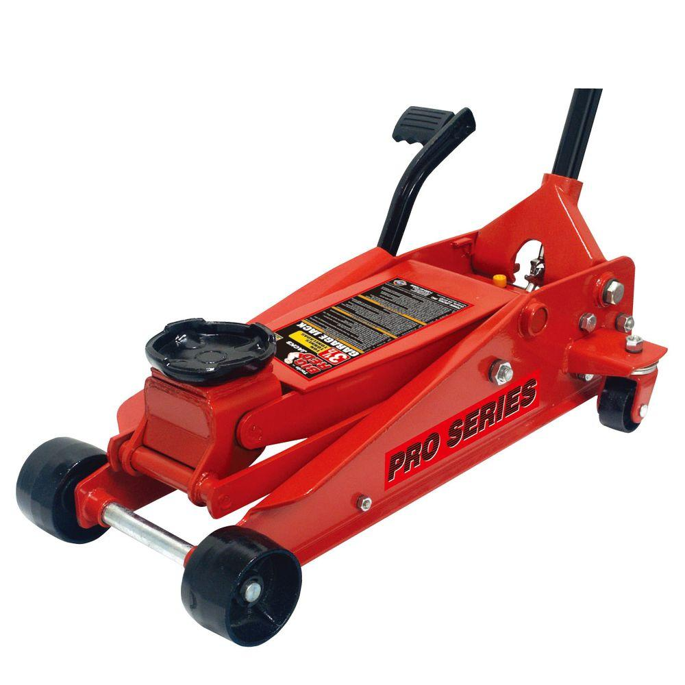 3.5-Ton Steel Floor Jack with Foot Pedal