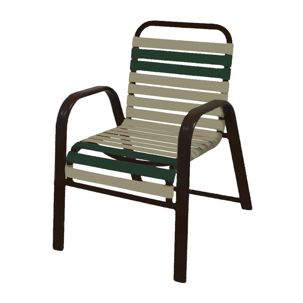 Marco Island Dark Cafe Brown Commercial Grade Aluminum Patio Dining Chair
