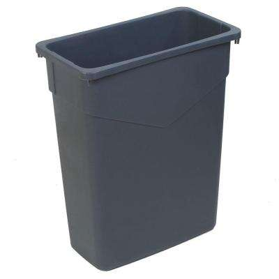TrimLine 15 Gal. Gray Rectangular Trash Can (4-Pack)