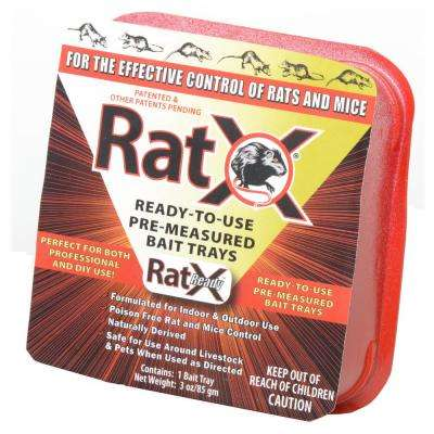 Ready-To-Use Pre-Measured Rat Bait Trays (4-Pack)