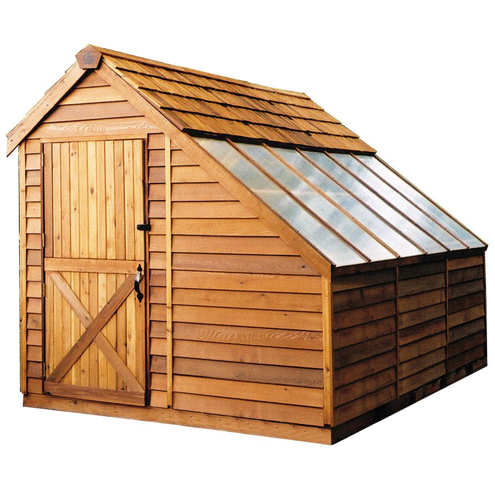 Cedarshed Sunhouse 8 ft. x 12 ft. Western Red Cedar Garden Shed