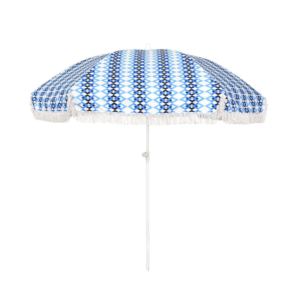 Astella 6.5 ft. Fiberglass Market Portable Beach Patio Umbrella in Multi-Color