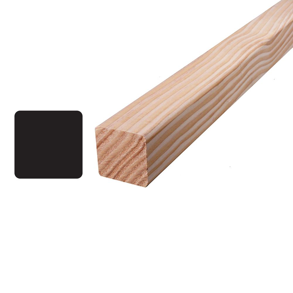 Alexandria Moulding Douglas Fir S4S Mixed Grain Board (Common: 2 in. x 2 in. x 96 in.; Actual 1.5 in. x 1.5 in. x 96 in.)