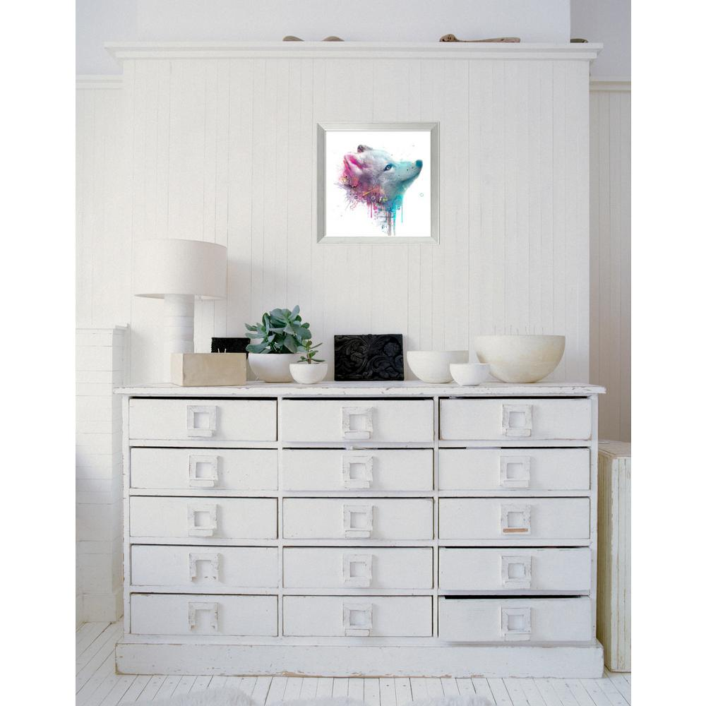"18 in. W x 18 in. H ""Fox"" by Veebee Framed"