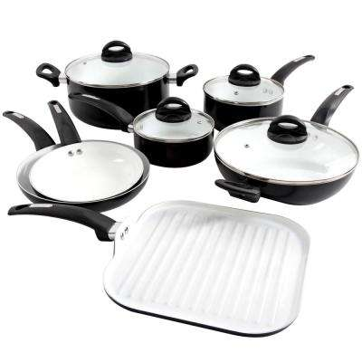Herstal 11-Piece Black Cookware Set