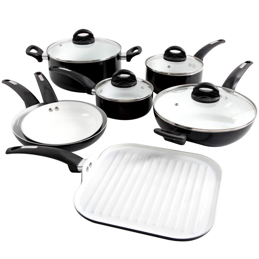 Herstal 11-Piece Black Cookware Set