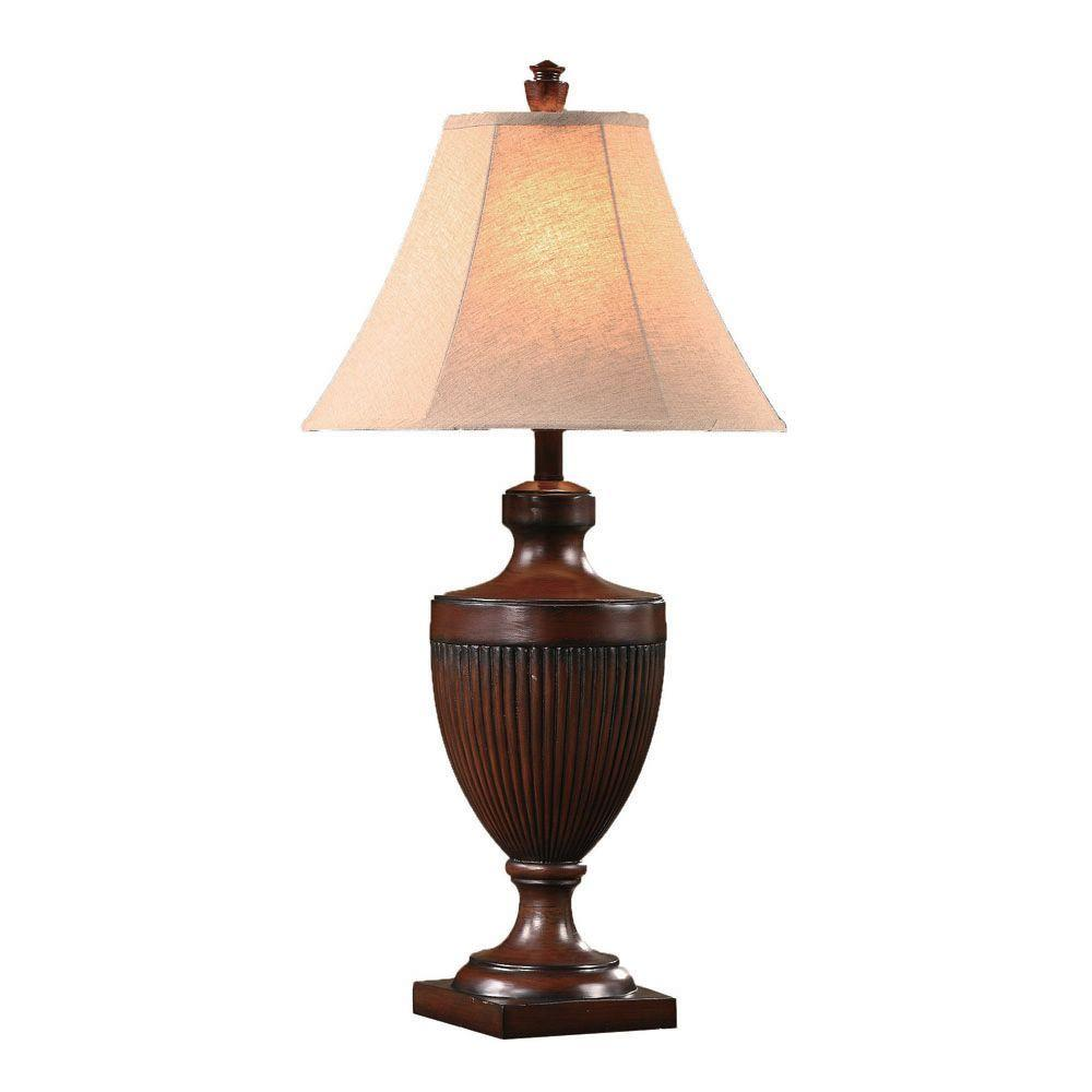 Absolute Decor 33.25 in. Bison Brown Table Lamp-DISCONTINUED