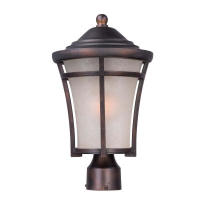 Balboa 10 in. Wide 1-Light Outdoor Copper Oxide Post Light