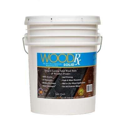 5 gal. Dark Brown Solid Wood Exterior Stain and Sealer