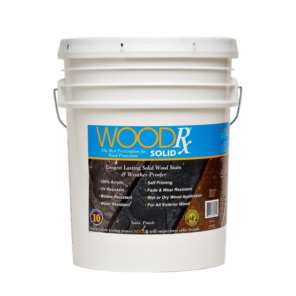 5 gal. Dark Brown Solid Wood Exterior Stain and Sealer