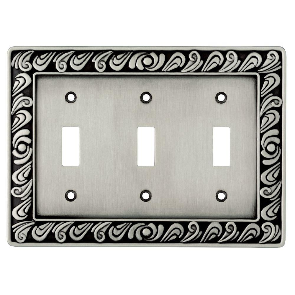 Liberty Pewter 3 Gang 3 Toggle Wall Plate 1 Pack 64054 The Home Depot