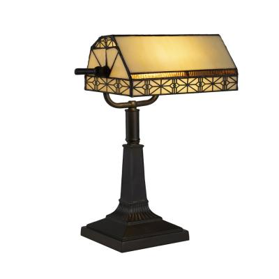 16 in. Bronze Tiffany Style LED Bankers Lamp