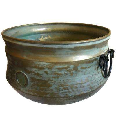 Verde Gold Outdoor Pot for Garden Hose Storage