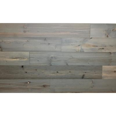 Driftwood 4 in. Peel and Stick Wall Applique Panels (20 sq. ft./Box)