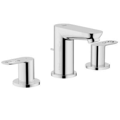 BauLoop 8 in. Widespread 2-Handle Low Arc Bathroom Faucet in Starlight Chrome