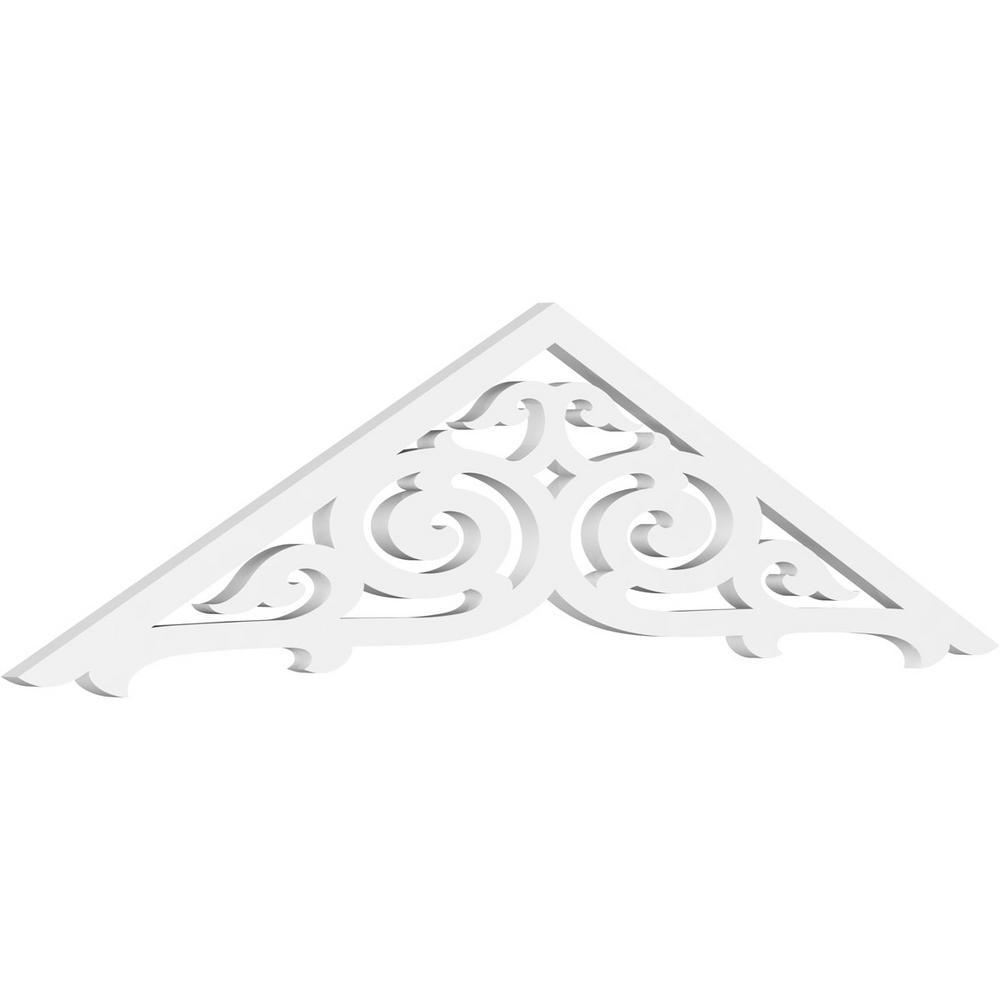 60 W x 25 H x 1 P Primed Ekena Millwork GPP060X025X100HUR Gable Pediment 10//12
