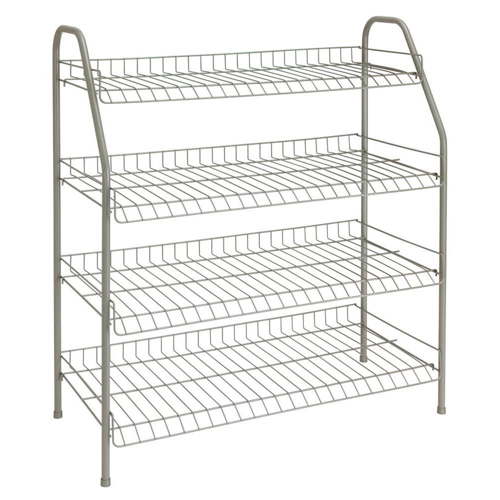 ClosetMaid 28 in. H x 26 in W x 12 in. D 4-Shelf Ventilated Wire ...