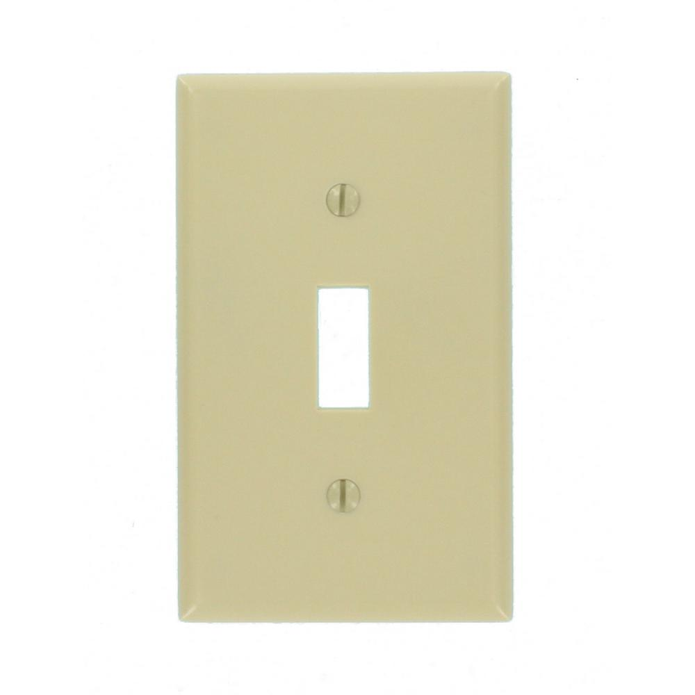 1-Gang Toggle Wall Plate, Ivory (Pack of 10)