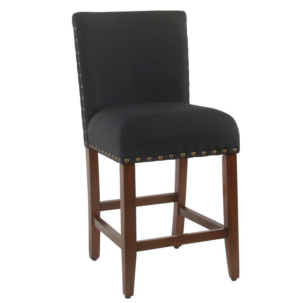 Upholstered 24 in. Deep Navy Bar Stool