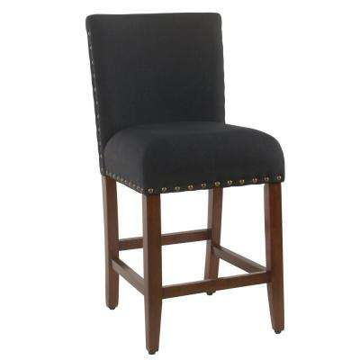Upholstered 24 in. Deep Navy Bar Stool