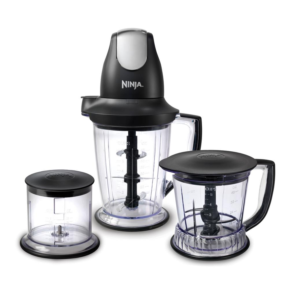 NINJA Master Prep 48 oz. Single Speed Black Professional Blender-QB1004 - The Home Depot