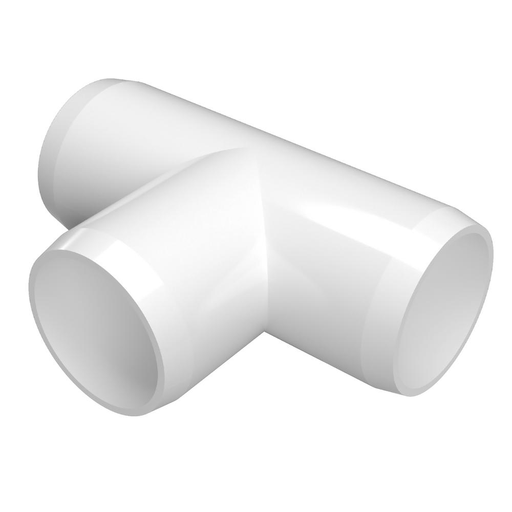 Formufit 1 in. Furniture Grade PVC Tee in White (4-Pack)