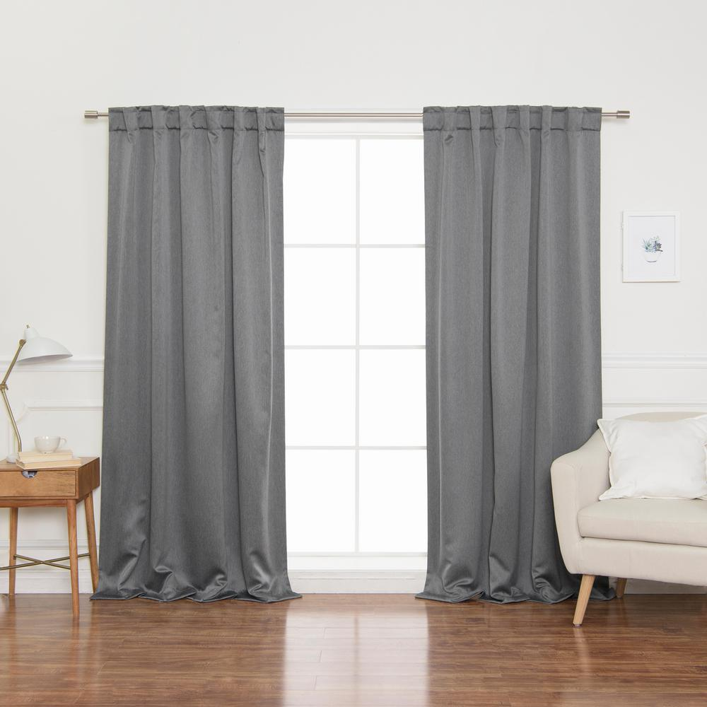 Best Home Fashion Heathered Linen Look 52 In. W X 96 In. L