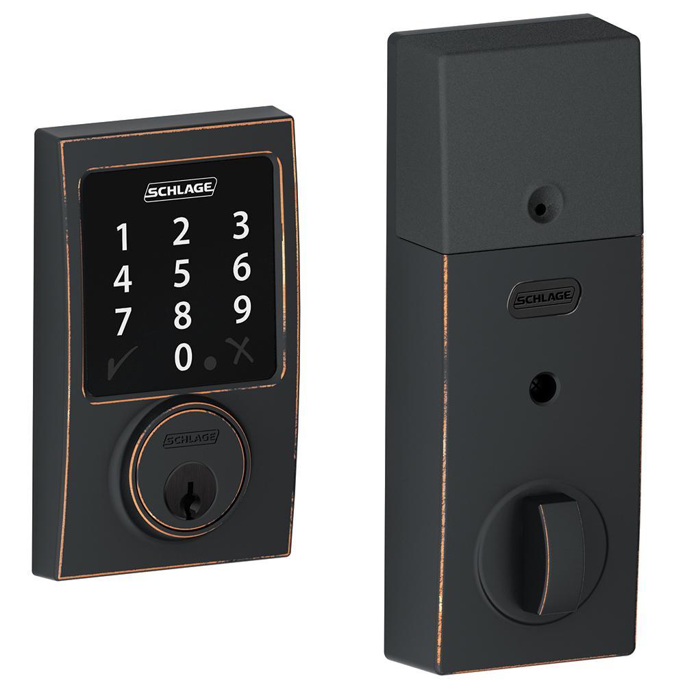 Schlage Century Aged Bronze Connect Smart Lock Be468 Cen