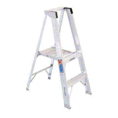 2 ft. Aluminum Platform Step Ladder with 300 lb. Load Capacity Type IA