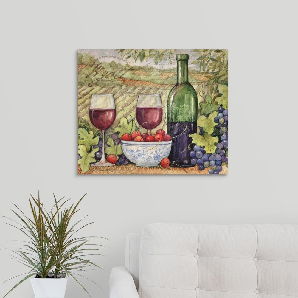 "GreatBigCanvas ""Vineyard"" by Susan Winget Canvas Wall Art"