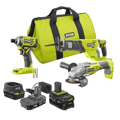 ONE+ 18V Brushless Cordless 3-Tool Combo Kit with (1) 4.0 Ah Battery, (1) 1.5 Ah Battery, 18V Charger, and Bag