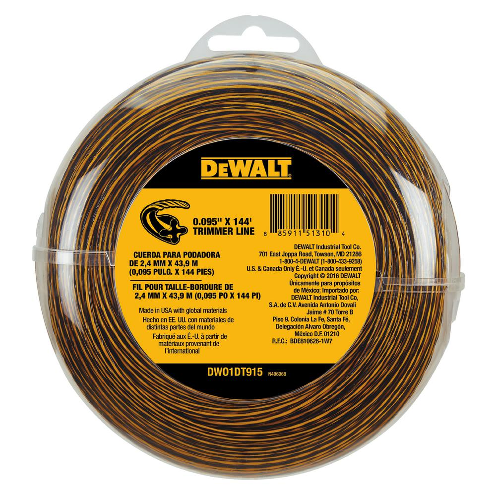 DeWALT 0.095 in. x 144 ft. Replacement Line for Cordless ...