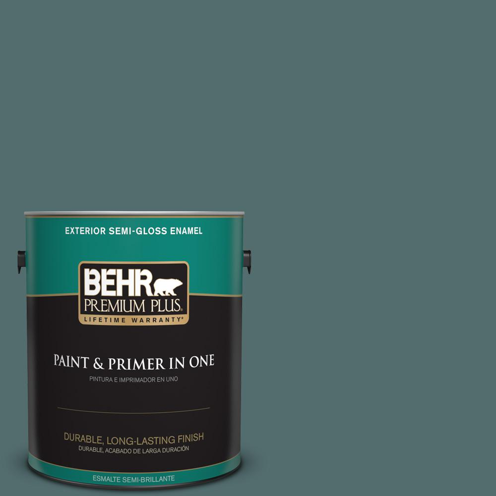1 gal. #PPU12-02 Sequoia Lake Semi-Gloss Enamel Exterior Paint