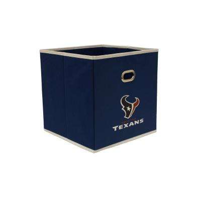 Houston Texans NFL Store-Its 10-1/2 in. W x 10-1/2 in. H x 11 in. D Navy Blue Fabric Drawer