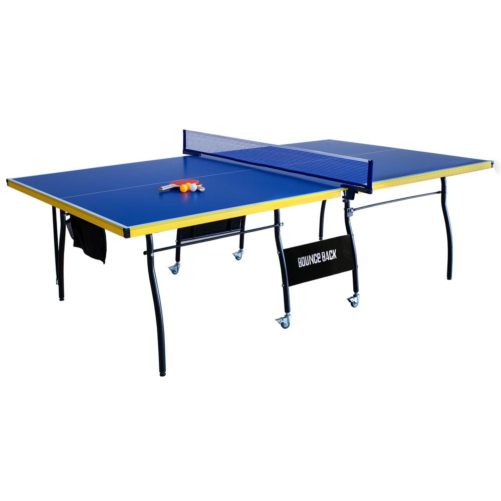 Bounce Back Table Tennis - Regulation-Sized 9 ft. with Fo...