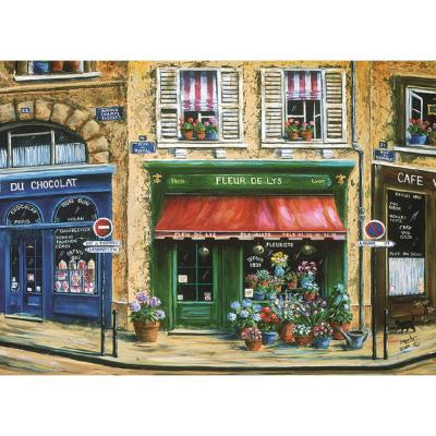 MHF Home French Cafe Multi-Colored 18 in. W x 13 in. L Polypropylene Placemat Set (4-Pack)
