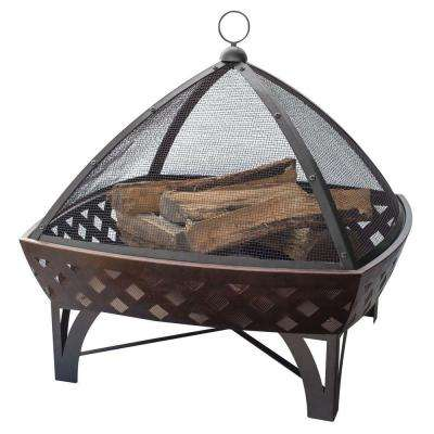 29.5 in. Lattice Fire Pit in Oil Rubbed Bronze