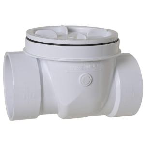Sioux Chief 2 inch PVC Hub x Hub Backwater Valve by Sioux Chief