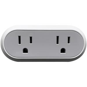 10 Amp Wi-Fi Dual Smart Plug, Gray