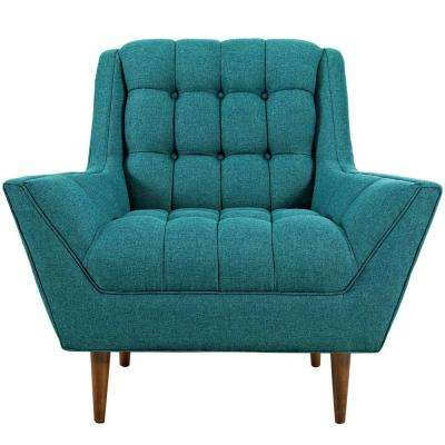 Response Teal Upholstered Fabric Armchair