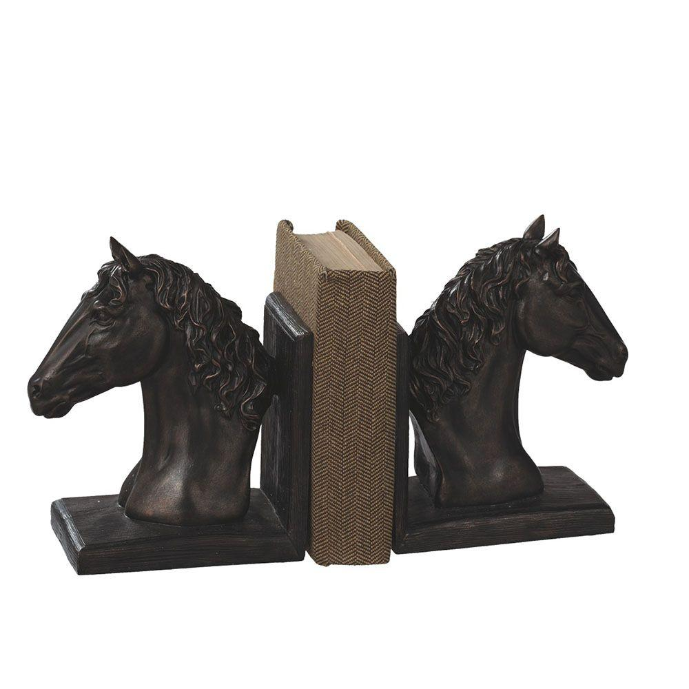 Filament Design Sundry 14 in. Bronze Horse Bookends