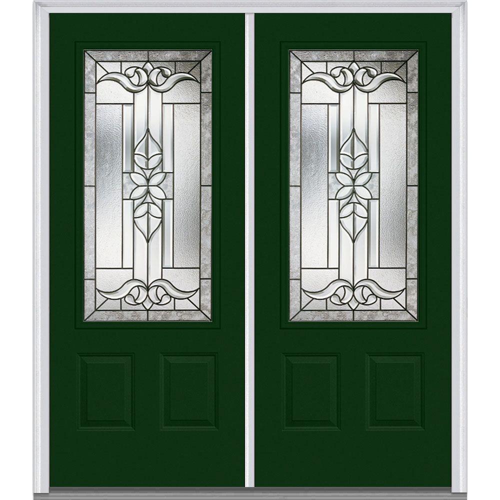 Exterior Steel Doors With Glass Mmi Door 64 Inx 80 Incadence Righthand 34 Lite 2Panel