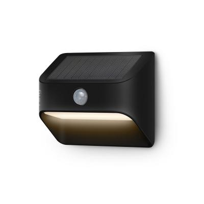 Smart Lighting Solar Black Motion Activated Integrated LED Deck Step Light