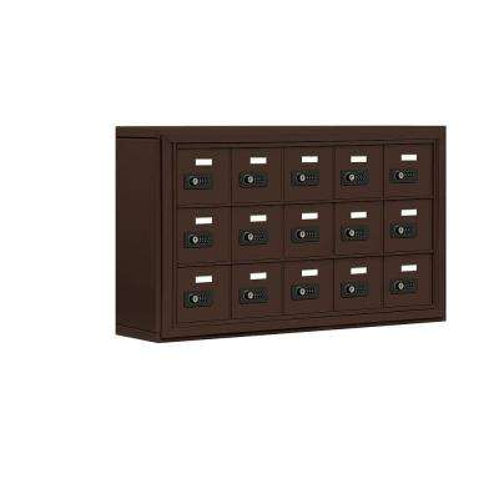 19000 Series 37 in. W x 20 in. H x 6.25 in. D 15 A Doors S-Mount Resettable Locks Cell Phone Locker in Bronze