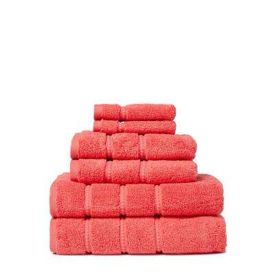 Casa 6-Piece 100% Low Twist Cotton Bath Towel Set in Melba