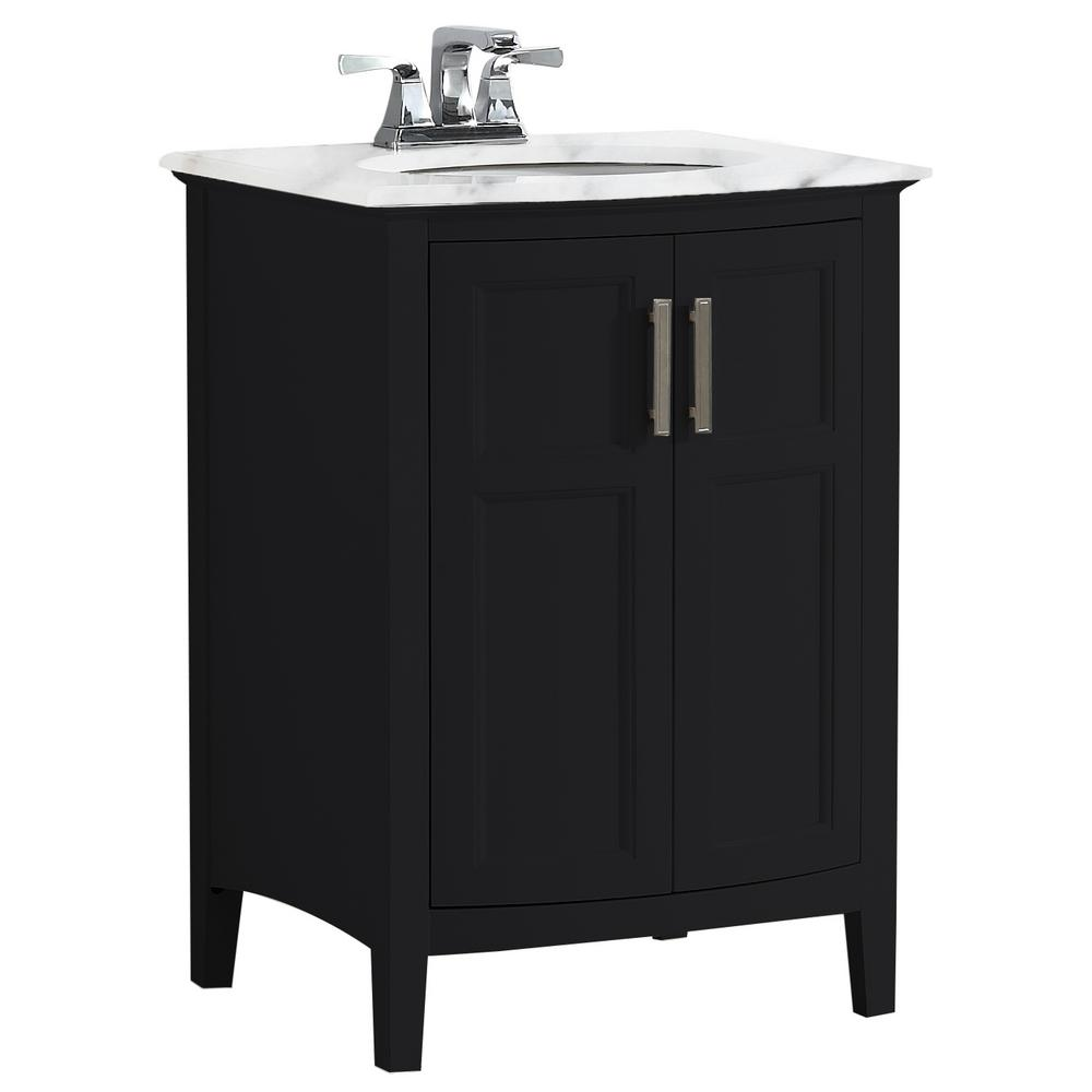 remarkable curved front bathroom vanity   Simpli Home Winston 24 in. Rounded Front Bath Vanity in ...