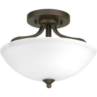Laird Collection 2-Light Antique Bronze Semi-Flush Mount
